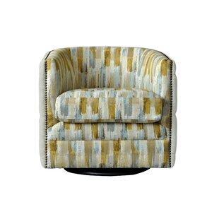 Egerton Swivel Barrel Chair by Bungalow Rose