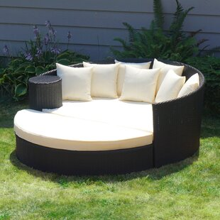 Georgiana Rattan Wicker Outdoor Patio Daybed with Cushions