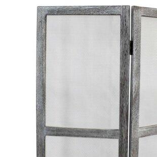 Tejada Mesh Wood 3 Panel Room Divider by Gracie Oaks