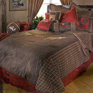 Lance Moose Plaid Reversible Comforter Set
