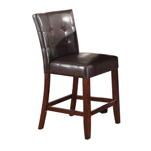 Azuela Genuine Leather Upholstered Dining Chair (Set of 2) Red Barrel Studio