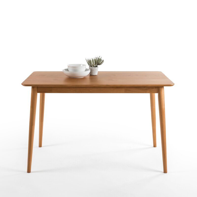 Goodyear Solid Wood Dining Table Reviews Allmodern