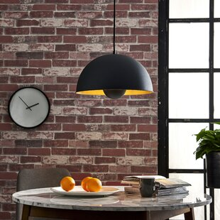 Brockington 1-Light Dome Pendant by Williston Forge