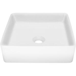 Ticor Sinks Nautilus Series Vitreous China Square Vessel Bathroom Sink