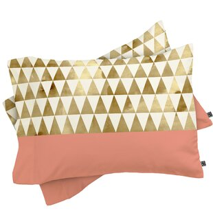 Gold Triangles Pillowcase (Set of 2)