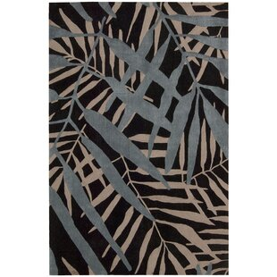 Reviews Clinton Hand-Tufted Black Area Rug ByBay Isle Home