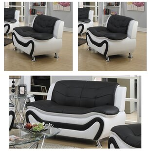 Leather White Living Room Sets You\'ll Love | Wayfair