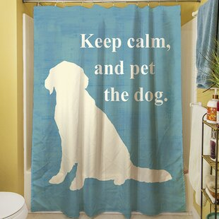 Keep Calm and Pet the Dog Single Shower Curtain