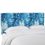 Prado Stroke Block Linen Upholstered Panel Headboard by Brayden Studio®