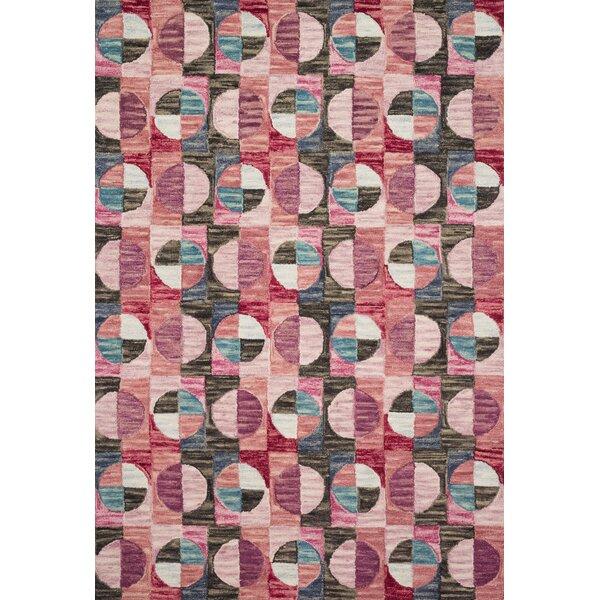 Justina Blakeney X Loloi Hand Hooked Wool Pink Area Rug Wayfair