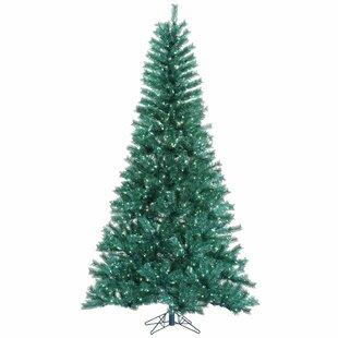 45 aqua tinsel artificial christmas tree with 200 led single colored lights aqua with stand