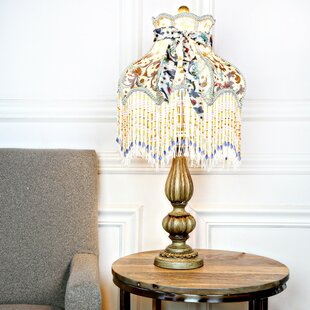 Croley Victorian Floral and Fringe 26.5 Table Lamp