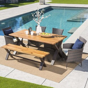 Arbus Outdoor 6 Piece Dining Set with Cushions