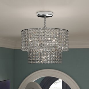 Carbon 5-Light Crystal Chandelier by House of Hampton