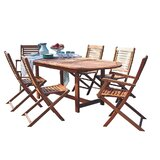 Mcqueary International Home Outdoor 9 Piece Dining Set