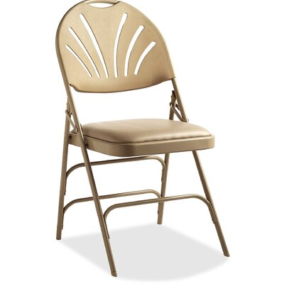 Fanback Vinyl Padded Folding Chair Samsonite
