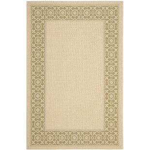 Amaryllis Cream/Green Floral Indoor/Outdoor Rug