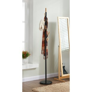 !nspire Metal with Solid Wood Hook Coat Rack