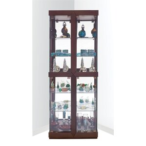 Catchings Lighted Corner Curio Cabinet by Latitude Run