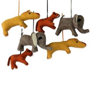 6 Piece Stuffed Wool Animals Holiday Ornament Set  sc 1 st  Wayfair & Hanging Stuffed Animal Storage | Wayfair