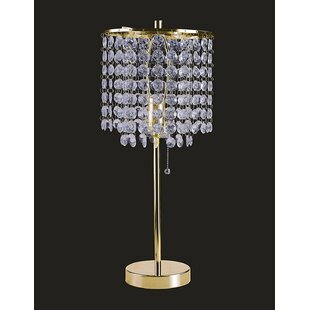 Crystal chandelier table lamp wayfair save aloadofball Image collections