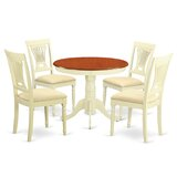 Artin 5 - Piece Rubber Solid Wood Breakfast Nook Dining Set by Andover Mills™
