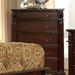 Sherlene Intricate Wooden Carving 5 Drawer Standard Dresser by Astoria Grand