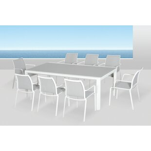 Houston Glass Dining Table by Orren Ellis