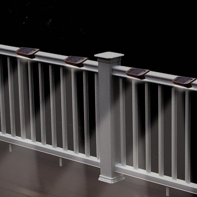 4 pk MAXSA INNOVATIONS 47332 Solar-Powered Deck Lights