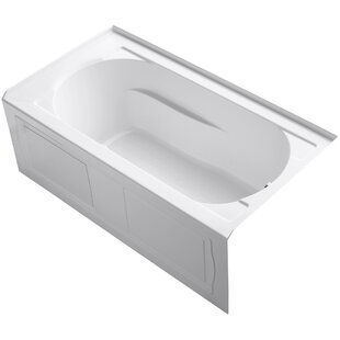 Kohler Devonshire Alcove BubbleMassage™ Air Bath with Integral Apron, Ti..