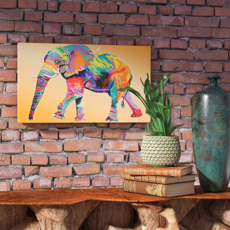 'The Ride' by Linzi Lynn Elephant Art Print - Elephant Wall Decor
