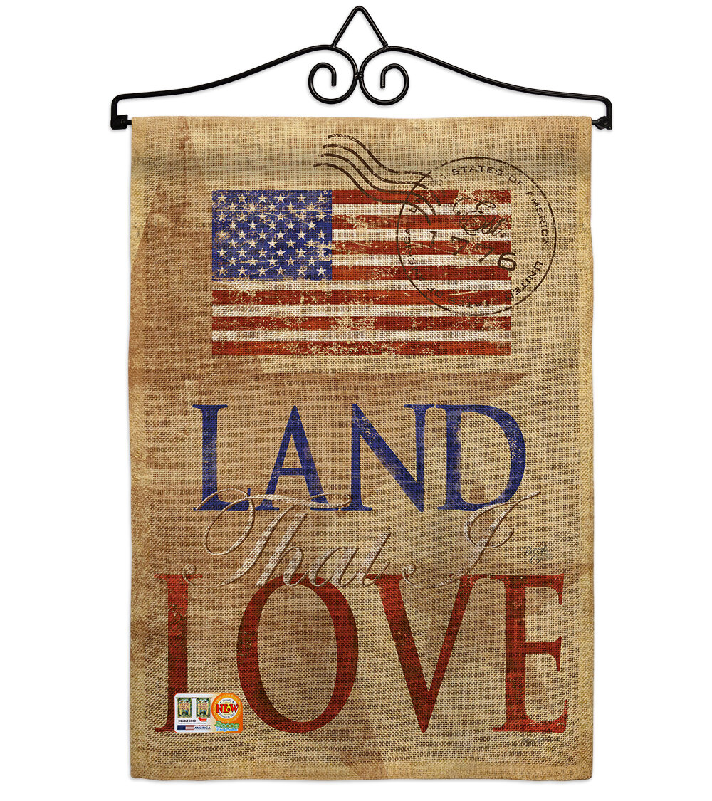 Breeze Decor Land That I Love American Patriotic 2 Sided Polyester 19 X 13 In Flag Set Wayfair