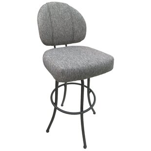 Seery m75 34 Swivel Bar Stool Red Barrel Studio