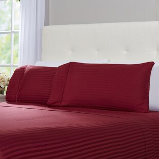 Hogansville 300 Thread Count Striped 100% Egyptian-Quality Cotton Sheet Set by Eider & Ivory Best