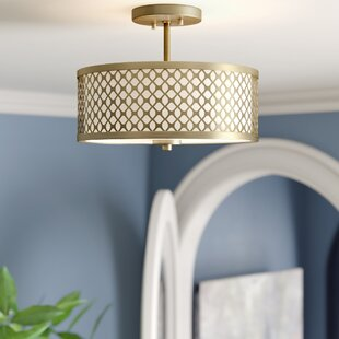 Rodarte 2-Light Semi Flush Mount by Mercer41