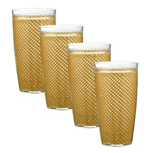 Fishnet 22 Oz. Plastic/Acrylic Tumbler (Set of 4)