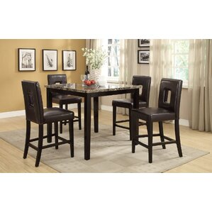 Reagan 5 Piece Counter Height Dining Set by A&J Homes Studio