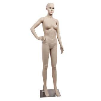 Full Body Female Mannequin W// Base Plastic Realistic Display Head Turns Dress