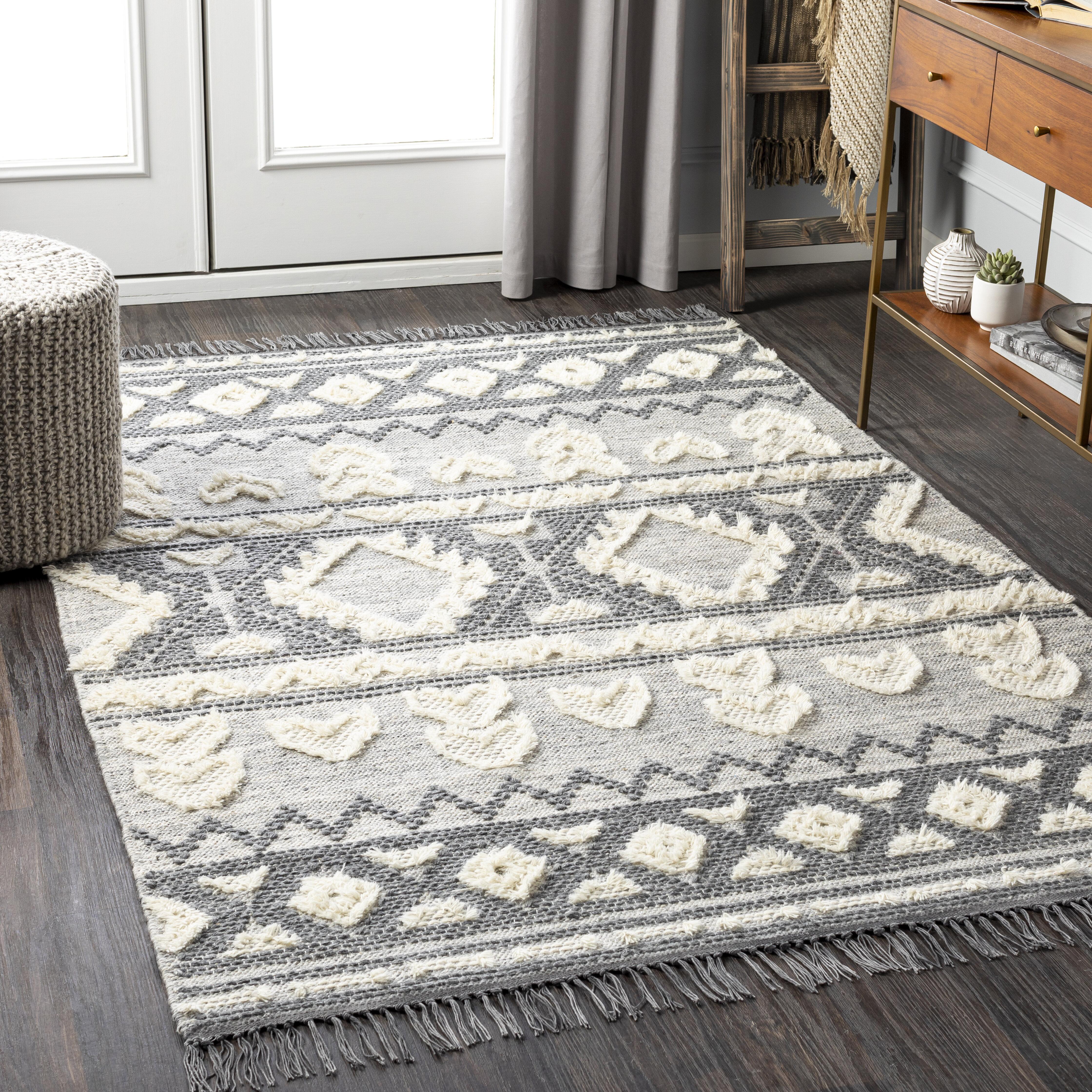 Cypres Geometric Hand Tufted Wool Beige Gray Brown Area Rug Allmodern