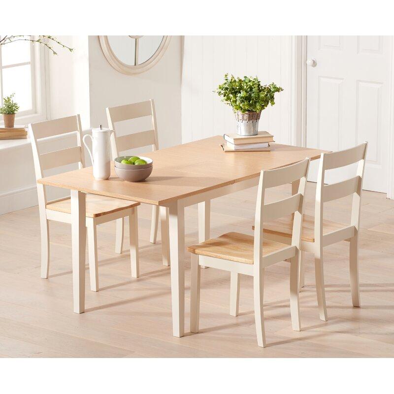Haus Am Meer Essgruppe Barstow Mit Ausziehbarem Tisch Und 4 Stühlen