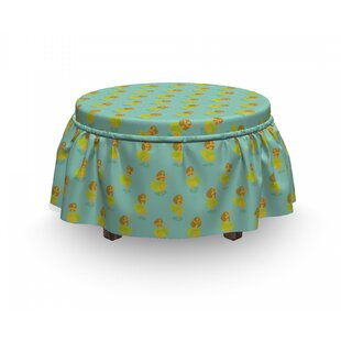 Summer Time Exotic Scene Ottoman Slipcover (Set Of 2) By East Urban Home