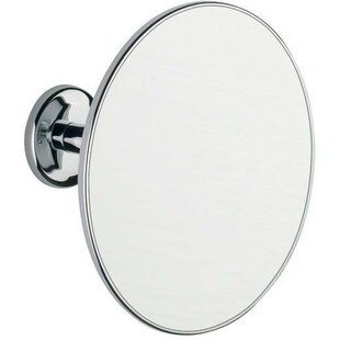 Orren Ellis Silber Adjustable Round Makeup/Shaving Mirror