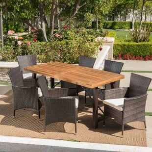 Tiggs Outdoor 7 Piece Dining Set with Cushions