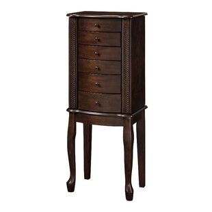 Three Posts Elmore Free Standing Jewelry Armoire with Mirror