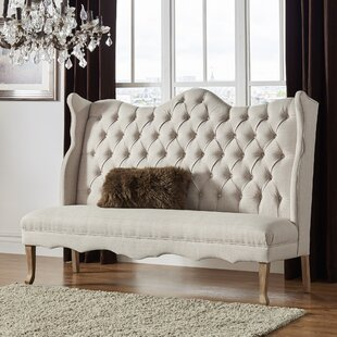 Janell Linen Tufted Upholstered Bedroom Bench