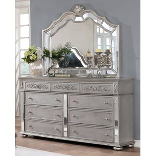 Rosdorf Park Nicolasa 9 Drawer Dresser with Mirror