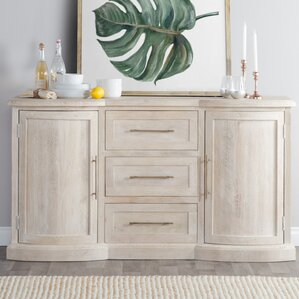 Greenfield Mango Wood Sideboard by Rosecliff Heights