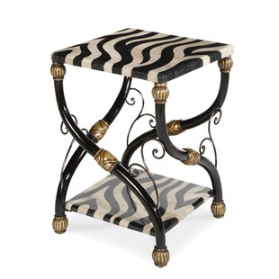 Discoveries Zebra Accent Table by Michael Amini