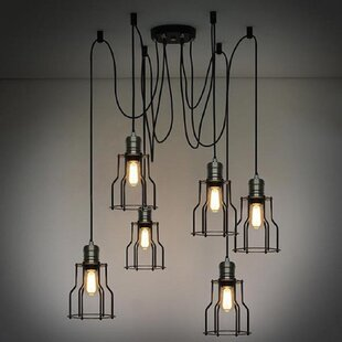 Groves 6-Light Cluster Pendant by Williston Forge