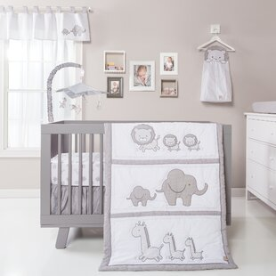 Trotman 3 Piece Crib Bedding Set